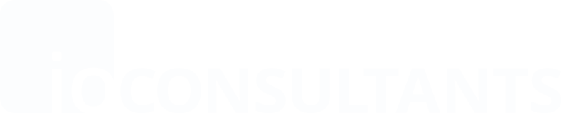 Logo io-consultants, white